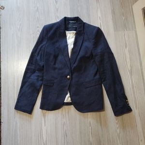 Zara Basic dark blue jean blazer size medium